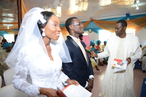 Wedding Bw The Son Of Our Pastor Dele Ikotun And The Daughter Of Pastor Abraham On 14 Dec 2013